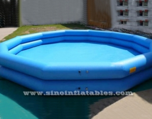 Doble carril ploygon gigante piscina inflable