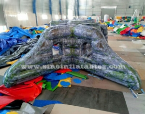 pared de paintball inflable militar de ladrillo