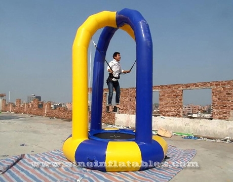 kids N adults inflatable bungee trampoline with harness