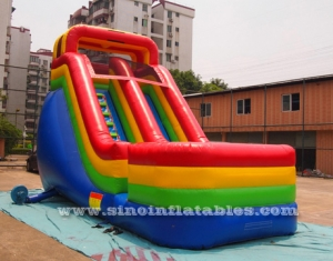 Diapositiva inflable del arco iris del 18ft