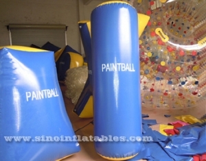 barril inflable paintball