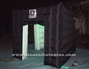 cabina de fotos inflable led colorido cubo negro