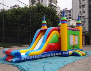 Infantil colorido comercial juego combo inflable