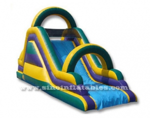 diapositiva seca inflable con arco