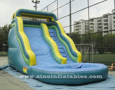 158096d3c Tobogán acuático inflable para niños tropicales de carga frontal con  garantía limitada de 3 años. tropical kids inflatable water slide ...