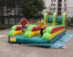doble carril inflable bungee run