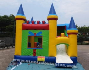 castillo inflable pop niños arcoiris
