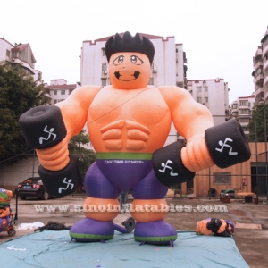 publicidad inflable fitness muscle man
