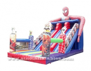Diapositiva inflable de niños gigantes spiderman