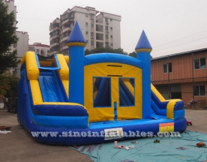 niños doble carril inflable agua combo castillo