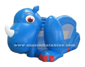 diapositiva inflable dino azul