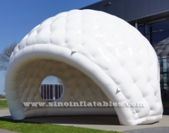 carpa de golf inflable blanca movible