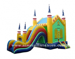 juego combo inflable arco iris