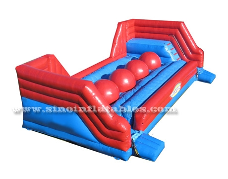 single lane adults wipeout inflatable big baller