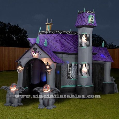 giant halloween inflatable haunted house