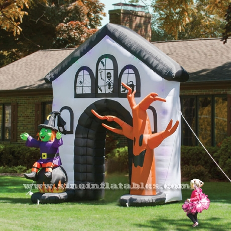 big airblown Halloween inflatable Haunted House Archway