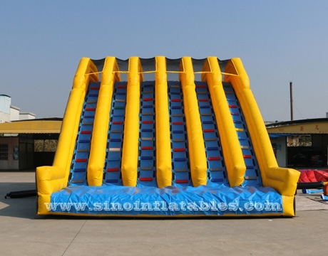 vertical rush slide adults inflatable obstacle course