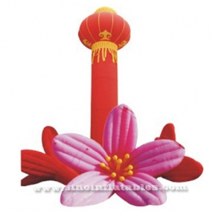 columna inflable linterna china roja