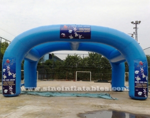 Carpa inflable publicitaria doble arcos.
