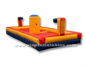 divertido baloncesto deportes inflable bungee run