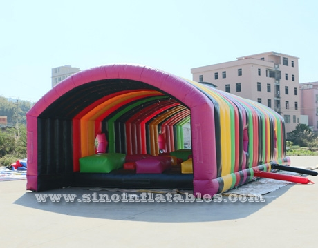Rainbow Stone Hop Inflatable Obstacle Course Race for Inflatable 5K