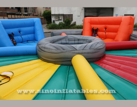 Life size human inflatable hungry hippos game