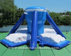 28ft high giant Free Klimb inflatable airbag climbing wall made of pvc tarpaulin-Sino Inflatables