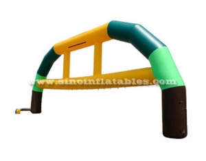 arco inflable comercial colorido