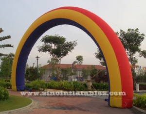 arco inflable arco iris grande