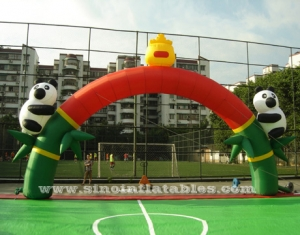 panda publicitaria arco inflable