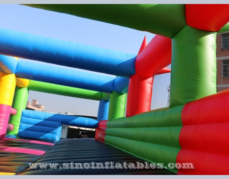 adults inflatable 5K obstacle course