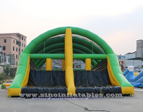 giant adults inflatable obstacle course with slide