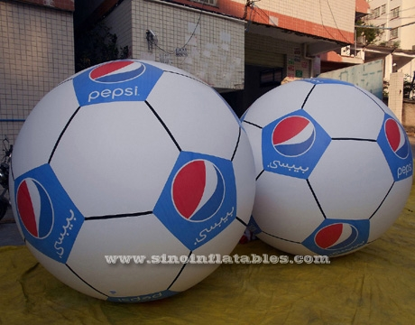 Giant floating inflatable helium football