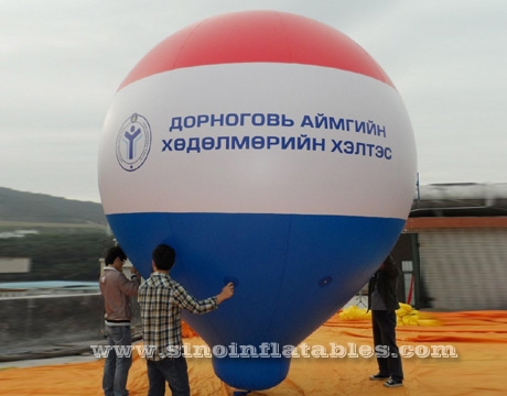 giant advertising inflatable zeppelin