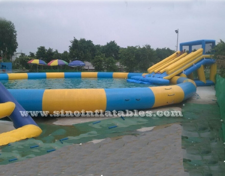 kids N adults big inflatable water park on land