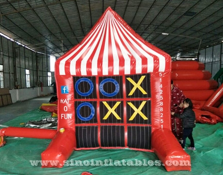 inflatable 4 spot tic tac toe game