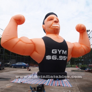 hombre musculoso inflable gimnasio extraíble