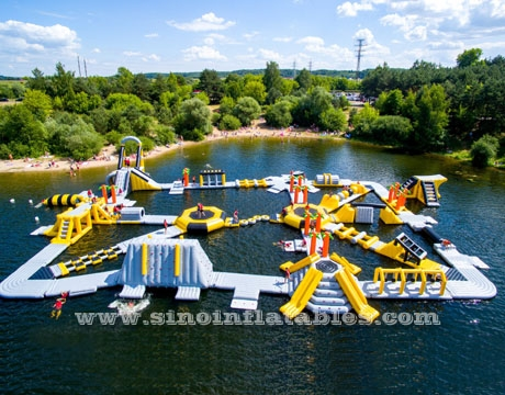 adults giant inflatable floating water park for adults