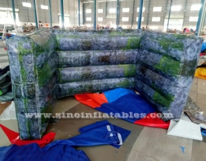 musgo ladrillo inflable aire paintball pared