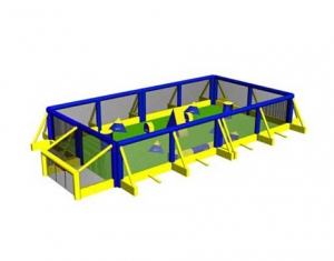 Campo de paintball inflable para bunkers de paintball.