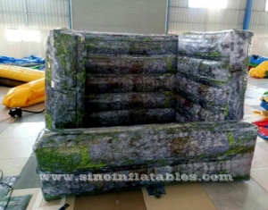 Ladrillo de pintura de paintball de pared inflable