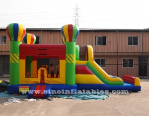 5in1 arco iris grande inflable combo casa
