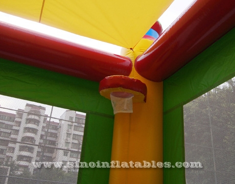 Colorful commercial kids inflatable combo game