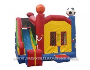 Combo inflable con tobogán.