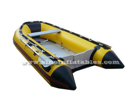 2 persons inflatable speed boat with aluminium floor