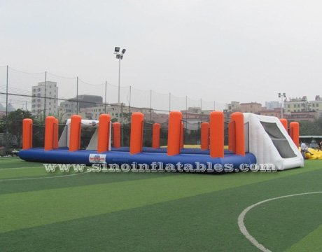children N adults giant inflatable soccer field with high rails