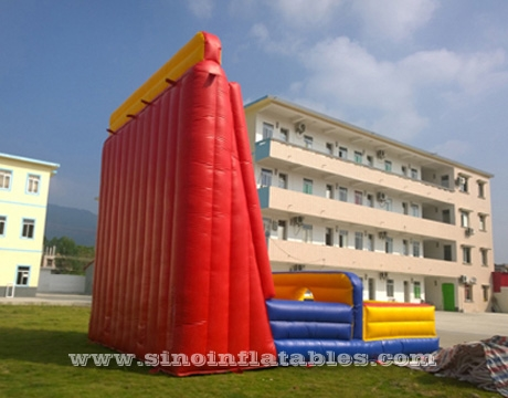 giant inflatable rock climbing wall