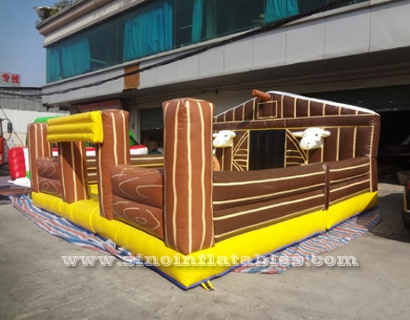 children or adults inflatable mechanical bull game