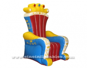 silla de trono inflable royal king para niños