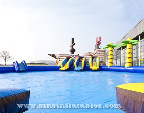 pirate ships kids N adults giant inflatable water park